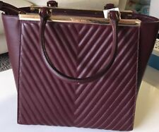 NWT Michael Kors Merlot Leather Top Zip Tote Bag