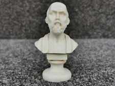 "Hippocrates Greek Carved Bust Alabaster Resin Ippocrate Figurine Statue Small 4"""