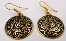 Boucles d'oreille danse orientale Bollywood sari hippie baba couleur or Inde n°9