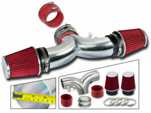Dual Twin Air Intake Kit + RED FILTER 94-96 Chevy Impala SS Caprice 4.3L 5.7L V8