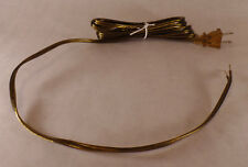 NEW 12' Antique Brass 18/2 Plastic Covered Lamp Cord Plug Set SPT-1,U.L., #CS728