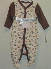New Vitamins Baby Boy's 2 Pc BASEBALL Coverall Romper & Blanket Set, Sz 3 Months