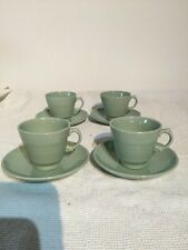 Woods Ware Beryl Demitasse Cup And Saucer X 4