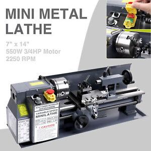 "550W Mini Metal Lathe 7x14"" (180x350mm) Digital Metalworking Bench Metal Gear"