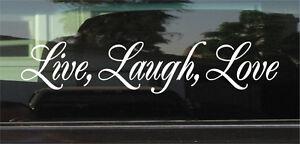 LIVE, LAUGH, LOVE  VINYL DECAL / STICKER