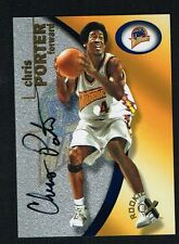 Chris Porter 2001 Fleer Rookie EX 111 of 1500 signed autograph auto Basketball