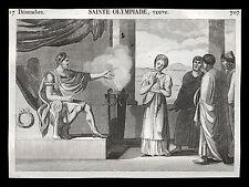 santino incisione1800  S.OLIMPIA VEDOVA