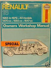 NEW HAYNES MANUAL RENAULT 16 0081