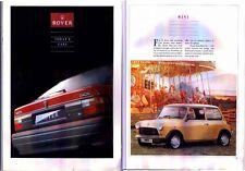 1990 ROVER CARS UK RANGE 36 PageBrochure MG MAESTRO METRO MINI MONTEGO 200 & 800