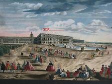 MAGIC LANTERN - VUE d'OPTIQUE Réhaussée -1740/1780- CHATEAU de VERSAILLES- RARE