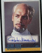 Star Trek Jarvis Skybox Charles Macaulay autographed A41 Card 1997 B1