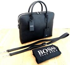 Hugo Boss Laptop Bag - Black- Leather (RRP£795) NEW With Tag.