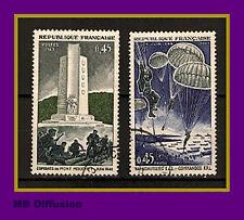 1969-Timbre France/OBL-Libération-Debarquement en Provence**Yt.1603/4. -.OB.3