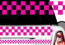 Adesivo Motivo a quadri Race Turbo Bandiera laterali Karo Taxi Decorazione xx7