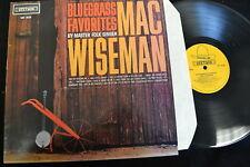 Bluegrass Favorites by Master Folk Singer Mac Wiseman Stetson HAT 3039