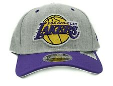 Los Angeles Lakers New Era 9Fifty Team Stich Heather Adjustable Snapback Hat Cap