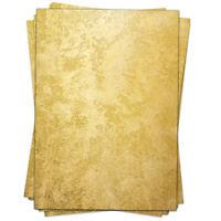 50 Blatt Briefpapier Set A4 Weihnachten Papier Bastelpapier Motiv Gold Look