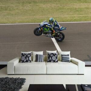 Fototapete Vlies und Papier Tapete Valentino Rossi Moto GP Yamaha Motorrad Sport