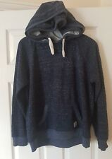 NEW LOOK Unisex Blue Double Hooded Sweatshirt Top Jumper Jacket Size UK 14 EU 42