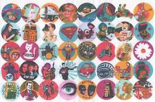 40 60's STICKERS #4. KITSCH, RETRO, POP ART, POP, SCI-FI, KIDS, ROBOTS, TOYS.