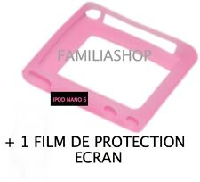 Housse etui coque silicone rose iPod Nano 6 6G + FILM