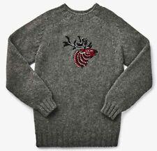 Filson Wool Embroidered Sweater - CHOOSE SIZE - 20205481 Elk Scottish Scotland