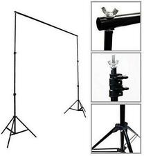 Fodoto 7x6 FT Telescopic Backdrop Stand Support Kit w/1pc 6x9ft Green Backdrop