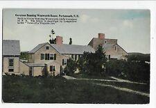 Vintage Postcard Portsmouth NH Governor Benning Wentworth House