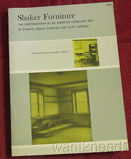 SHAKER FURNITURE Craftsmanship of American Communal Sect DOVER 1950 softcover