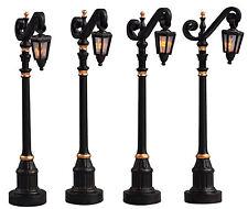LEMAX Decoración, lámparas de la calle colonial, decoración de Navidad, Iluminado Juego de 4