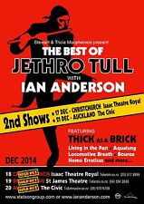 IAN ANDERSON NEW ZEALAND TOUR 2014 CONCERT  POSTER - Jethro Tull, Classic Rock