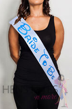 Hens Night Party Sash Disney Inspired White with Blue Writing - BRIDE TO BE