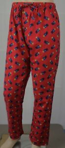 POLO Ralph Lauren Red Multi Preppy Teddy Bear Pajamas Lounge Sleep Pants