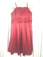 ELOQUII Satin Dress Red Removable Straps Date Night Club POCKETS Plus Size 18