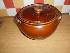 Antiguo gres vidriada Melaza Crock Pot