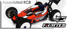 Bittydesign Karosse Karo Karosserie Fighter Body 1:8 Buggy Asso RC8 Lexan klar