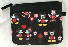 "Multi 6.5X8"" Disney Mickey Minnie Mouse Clutch Purse 1 Pocket"