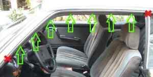 B-WARE Satz vordere Dichtung / Abdichtung Rahmen A-B Säule W123 C123 CE CD Coupe