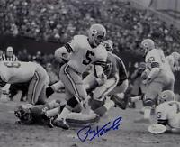 Paul Hornung Autographed Green Bay Packers 8x10 B&W Running Photo- JSA W Aut
