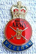 BRITISH ARMY VETERAN ENAMEL PIN BADGE UK VETERAN REMEMBRANCE D-DAY POPPY DAY