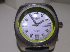 Unisex Zodiac 1882 ZO2262 Sea Dragon Silver Tone White Resin Strap Watch Green