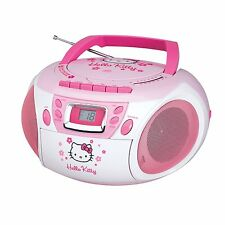 HELLO KITTY KID GIRLS CD CASSETTE PLAYER RECORDER RADIO