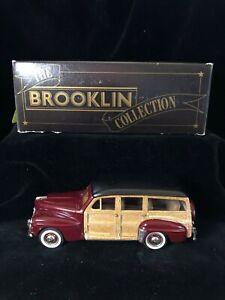 Boxed BROOKLIN Lansdowne BRK83 1947 FORD V8 Station Wagon Red Diecast Model 1/43