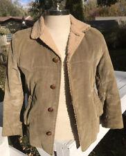 Vtg 60/70s Men Corduroy Coat Timberline Brill Bros 38R Sz 16 Khaki Fleece Lined