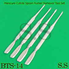 Stainless Steel Nail Art Manicure Cuticle Spoon Pusher Remover Tool Set BTS-14