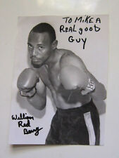 WILLIAM RED BERRY  4x5.5 photo  AUTOGRAPHED boxing