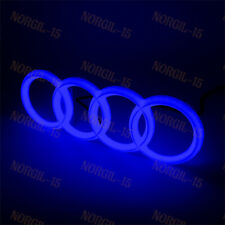 For Audi Chrome Grill Front Hood A1 A3 A4 A5 A6 A7 Q3 Q5 BLUE LED Emblem - 28CM