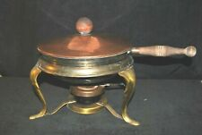 "Copper/Brass Fondue Pot Chaffing Dish Vintage 15 1/2"" by 10 1/2"" Tall"