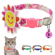 Cute Cat Collar Safety Breakaway with Bells Quick Release for Small Puppy Dogs