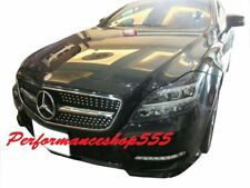 Front Diamond Grille Shiny Black FOR '2010-'2014 Mercedes BENZ W218 CLS Class